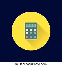 Flat calculator icon