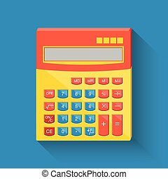 Flat calculator icon.