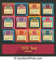 Flat calendar 2015 year design