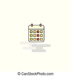 Flat Calendar Icon. Vector
