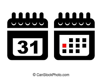 Flat calendar web mobile icon. Vector illustration.