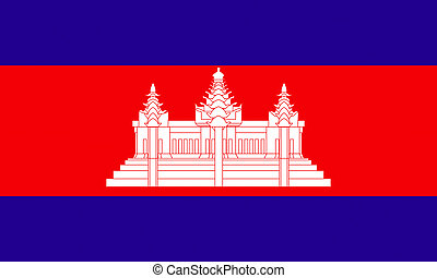 flat cambodian flag