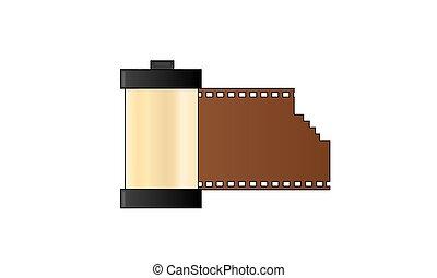 Flat camera film roll