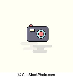 Flat Camera Icon. Vector