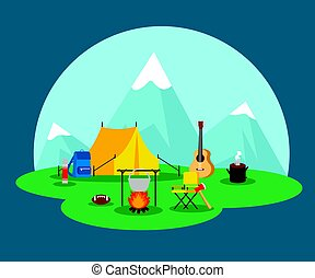 Flat Camping Concept