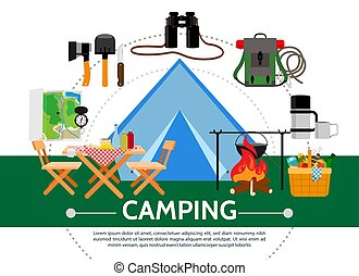 Flat Camping Template