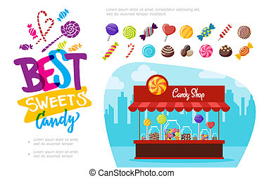 Flat Candy Shop Concept