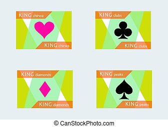 flat cards king