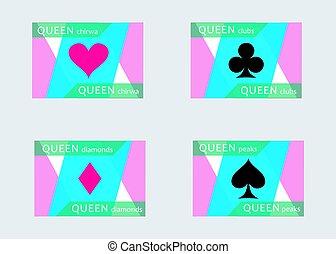 flat cards queen