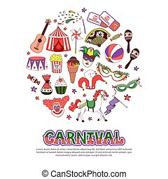 Flat Carnival Circus Concept