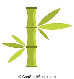 Bamboo Stem Cartoon Icon On A White Background