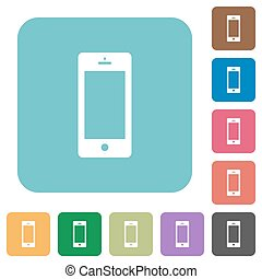 Flat cellphone icons