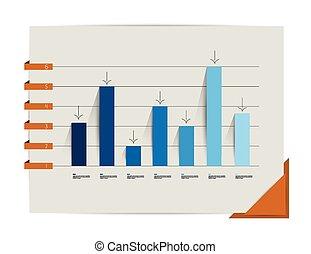 Flat chart, graph.