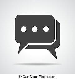 flat chat icon- vector illustration