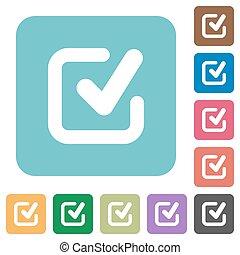 Flat checkmark icons