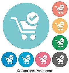 Flat checkout icons
