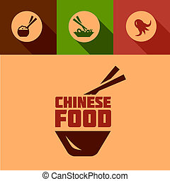 flat chinese food design - Chinese Food Design Elements in...