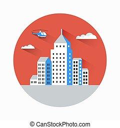 Flat city