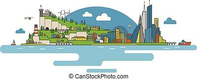 Flat city image