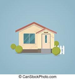 Flat classic house