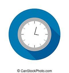 Flat Clock Circle Icon