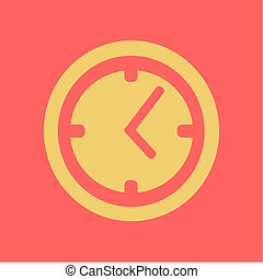 Flat clock icon. Time business icon. Illustration