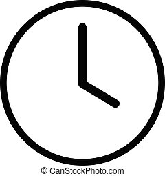 Flat clock vector icon Isolated on white background for graphic design, logo, web site, social media, mobile app, illustration