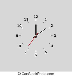 Flat clock vector modern design