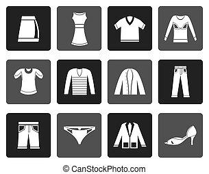 Flat Clothing Icons