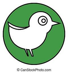 Flat color bird icon