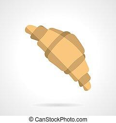 Flat color croissant design vector icon