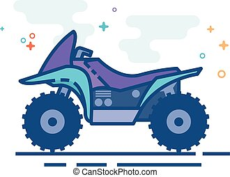 Flat Color Icon - All terrain vehicle