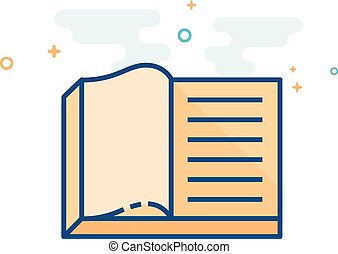 Flat Color Icon - Books