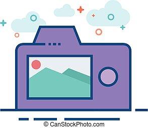 Flat Color Icon - Camera