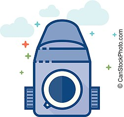 Flat Color Icon - Camera