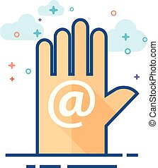 Flat Color Icon - Contact us