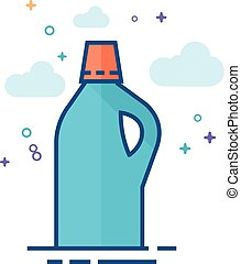 Flat Color Icon - Detergent Bottle
