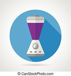 Flat color icon for blender