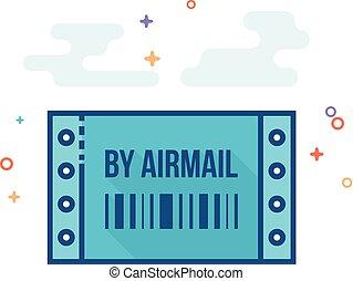 Flat Color Icon - Logistic receipt - Logistic receipt icon...