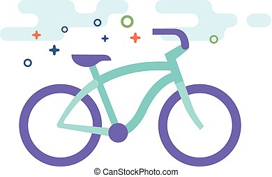 Flat Color Icon - Low rider bicycle - Low rider bicycle icon...