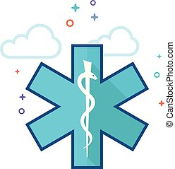 Flat Color Icon - Medical symbol