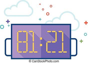 Flat Color Icon - Score board