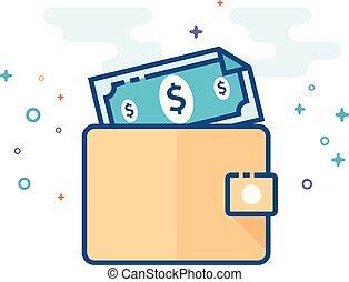 Flat Color Icon - Wallet