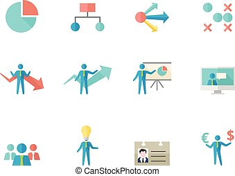 Flat color icons - Business