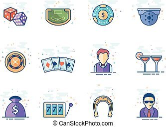 Flat color icons - Casino
