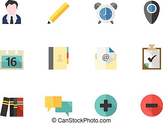 Flat color icons - Group Collaboration