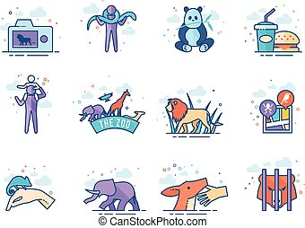Flat color icons -