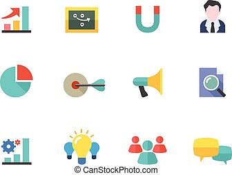 Flat color icons - Marketing