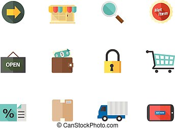 Flat color icons - More Ecommerce Icons