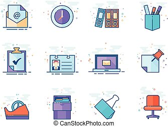 Flat color icons - More Office